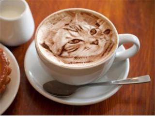 Как рисовать на пенке кофе?