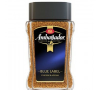 Ambassador blue label растворимый с/б 190g