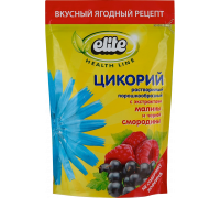 Elite цикорий с экстрактами малины и чернойсмородины кофейный напиток 100g
