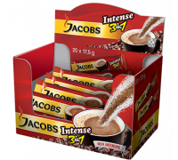 Jacobs 3 в 1 intense кофейный напиток 13,5gx21