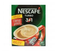 Nescafe 3 в 1 turbo кофейный напиток 16gx20